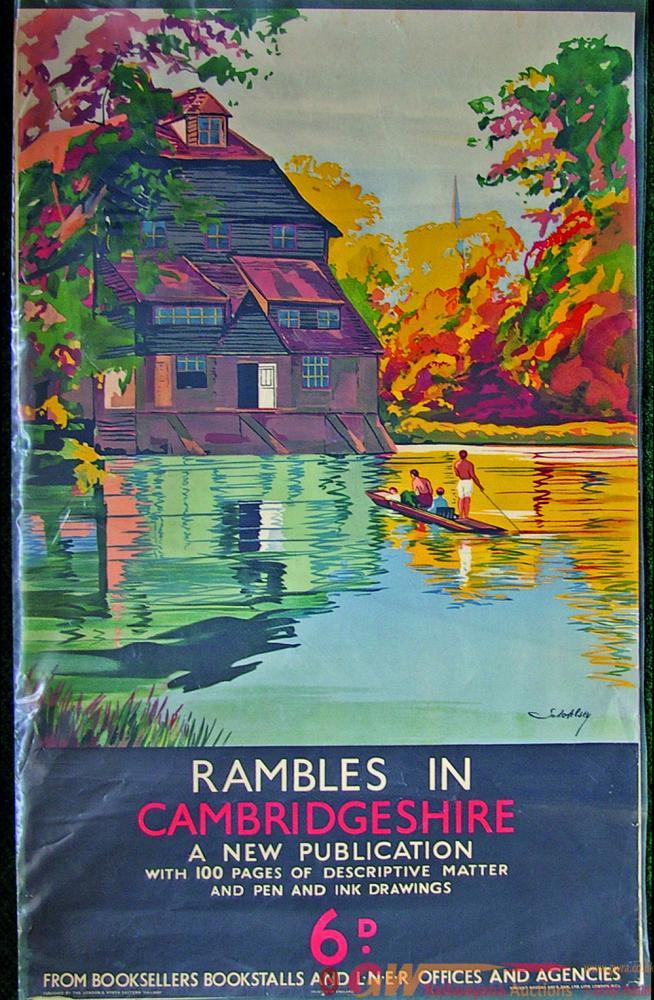 Poster, LNER D/R Rambles In Cambridgeshire - A New