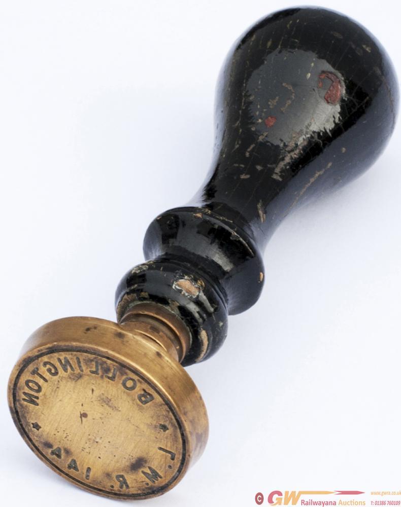 LMR Brass Station Stamp LMR 144 BOLLINGTON With