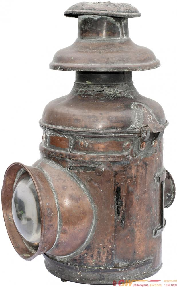 19th Century Copper Signal Lamp With Large