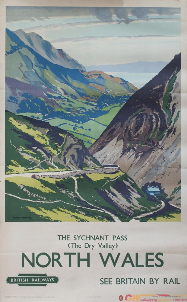 Poster BR(M) NORTH WALES THE SYCHNANT PASS By