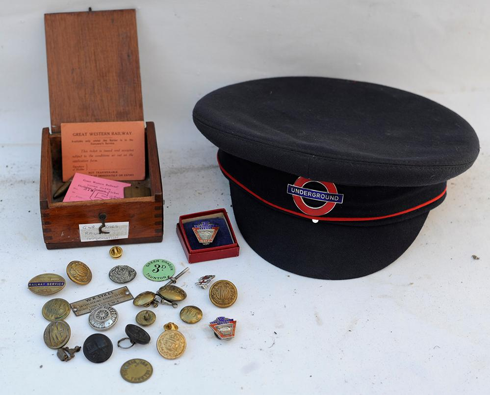A Small Wooden Box Containing Miscellaneous GWR