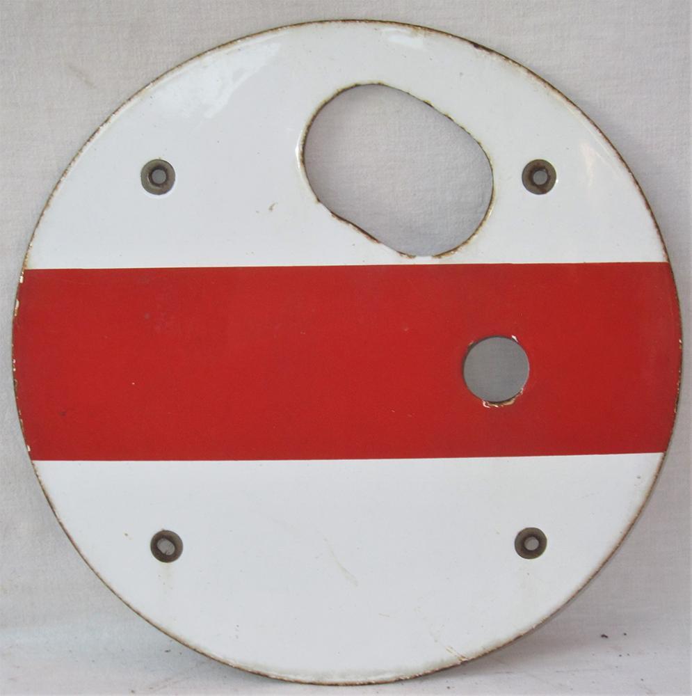 LNER Enamel Shunt Signal Disc In Excellent