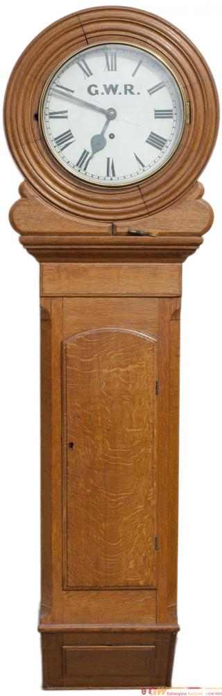 GWR 12in Dial Wall Mounted Oak Longcase Clock With