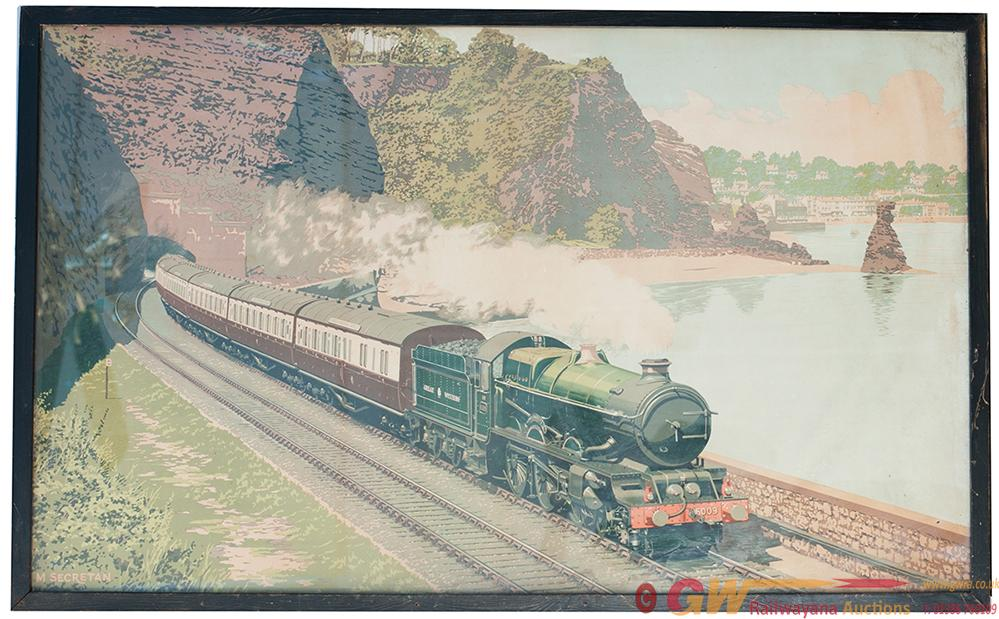 Waiting Room Poster Of The Cornish Riviera Express