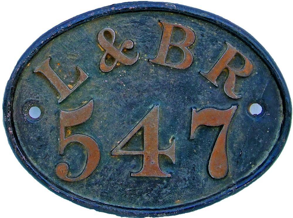 London & Birmingham Railway C/I House Numberplate