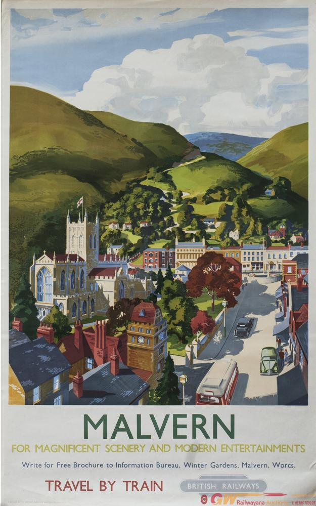 Poster BR(W) MALVERN FOR MAGNIFICENT SCENERY AND