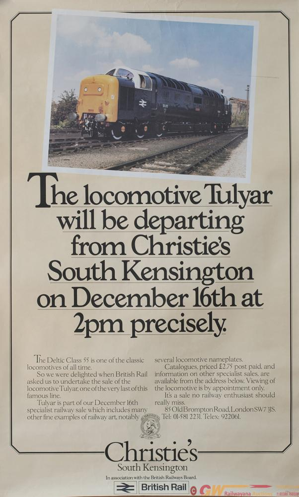 Poster BR Re SALE OF DELTIC TULYAR 55015 AT