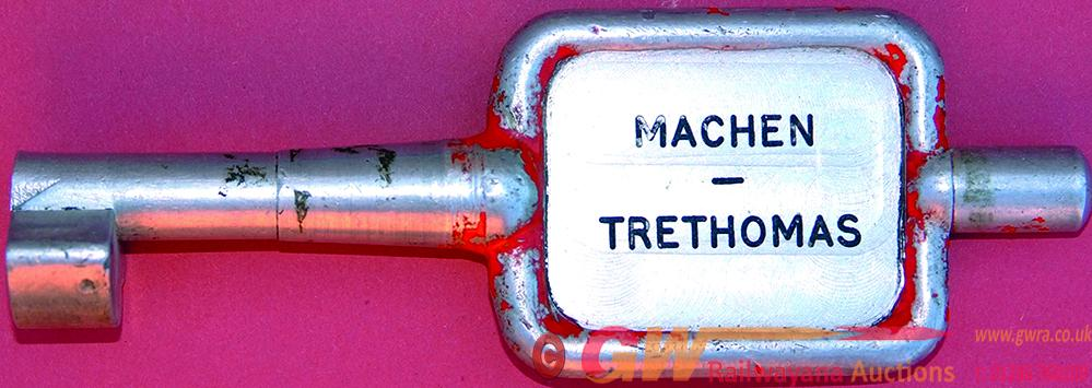 Alloy Key Token MACHEN -TRETHOMAS. Ex Brecon &
