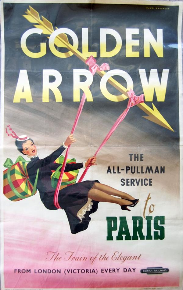 Poster 'The Golden Arrow -The All Pullman Service