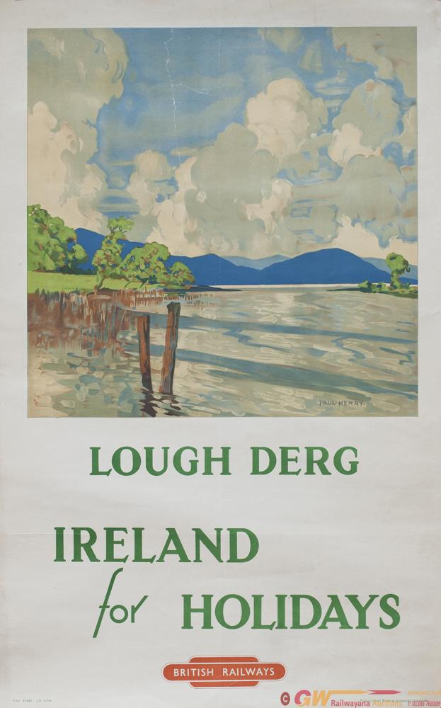 Poster BR LOUGH DERG IRELAND By Paul Henry. Double