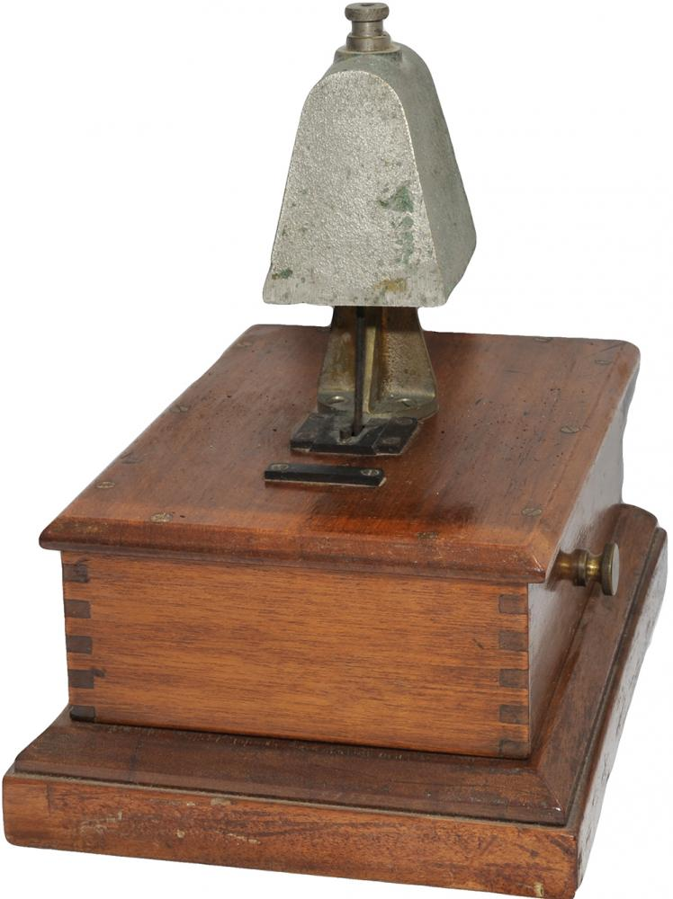 GWR Mahogany Cased Block Bell With R.E. Thompson