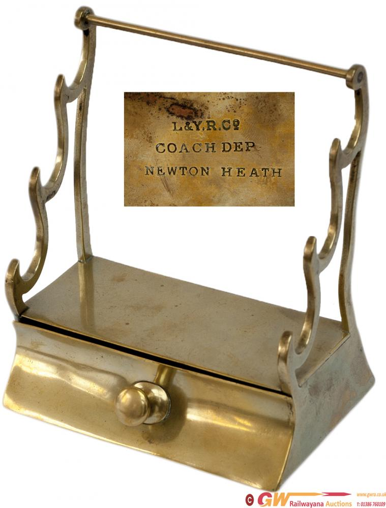 Lancashire And Yorkshire Railway Brass Pen Stand