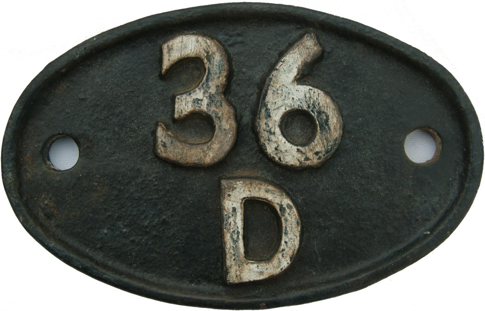 Shedplate 36d, Barnsley From 1948 Until July 1958,