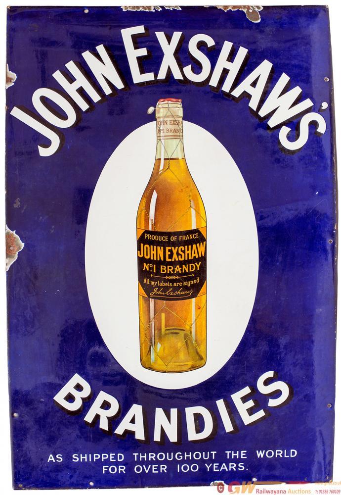 Advertising Semi Pictorial Enamel JOHN EXSHAW'S