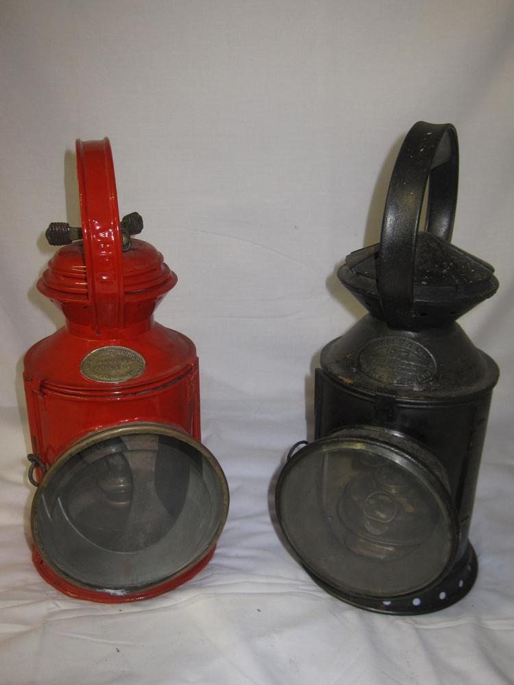 2 Railway Hand Lamps. 1 X Large Appletons Style