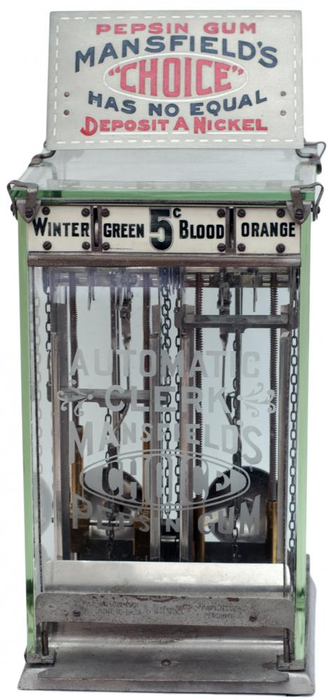 American Chewing Gum Dispensing Machine With Fully