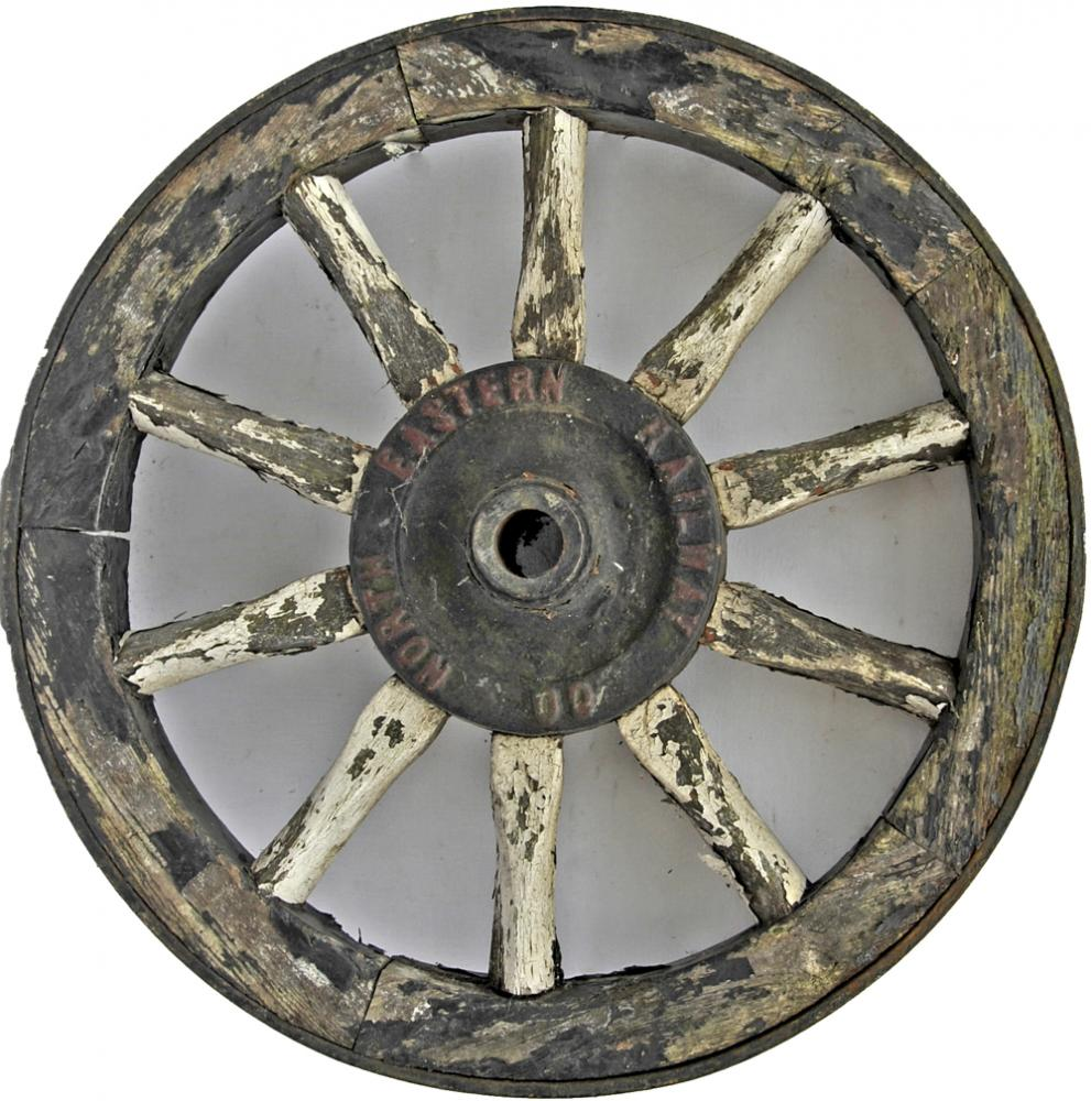 North Eastern Railway Wooden Cart Wheel With