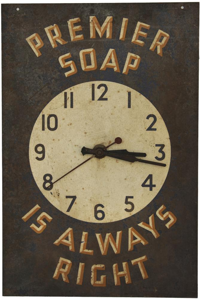 Advertising Sign Premier Soap Is Always Right