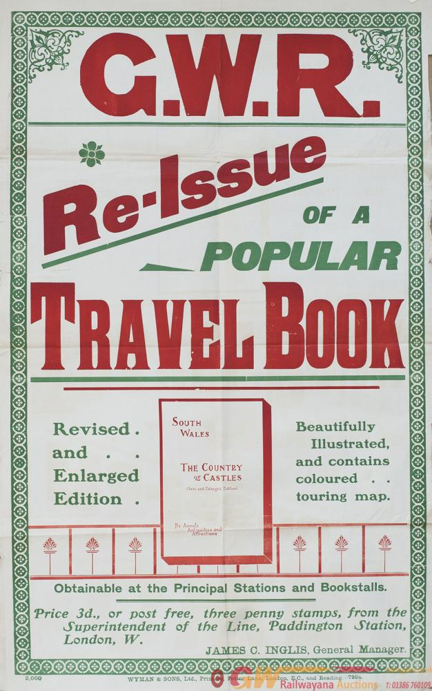 Poster GWR Re-Issue Of A Popular Travel Book SOUTH