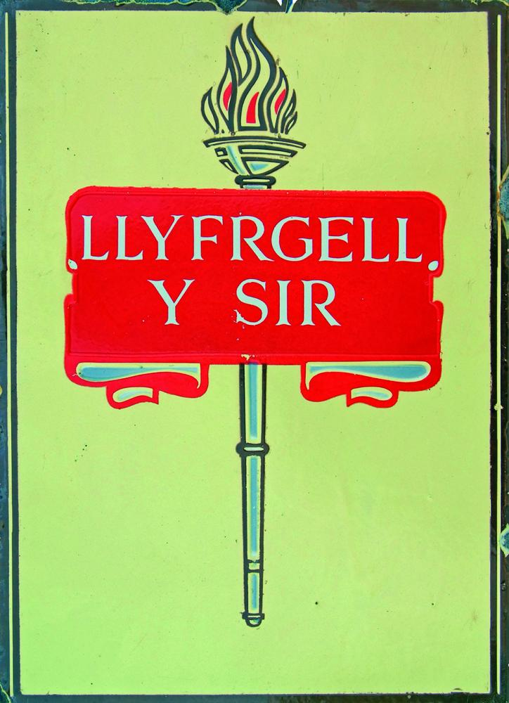 Enamel Advertising Sign 'County Library'. Double