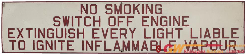 BR Pressed Aluminium Sign NO SMOKING SWITCH OFF