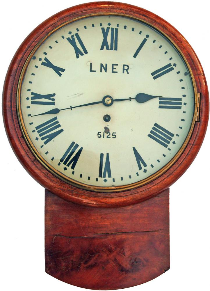 NER 12 Fusee Mahogany Cased Drop Dial Clock, The