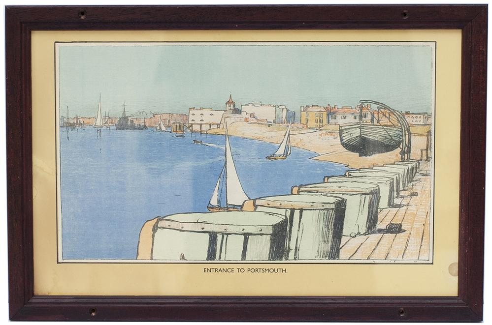 Carriage Print ENTRANCE TO PORTSMOUTH HARBOUR By