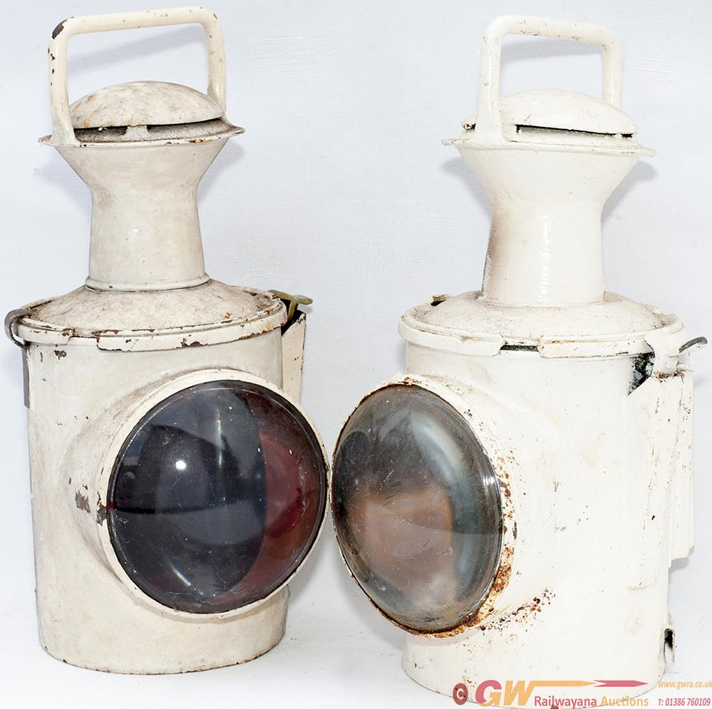 BR(S) Locomotive Headlamps, A Pair, One Stamped