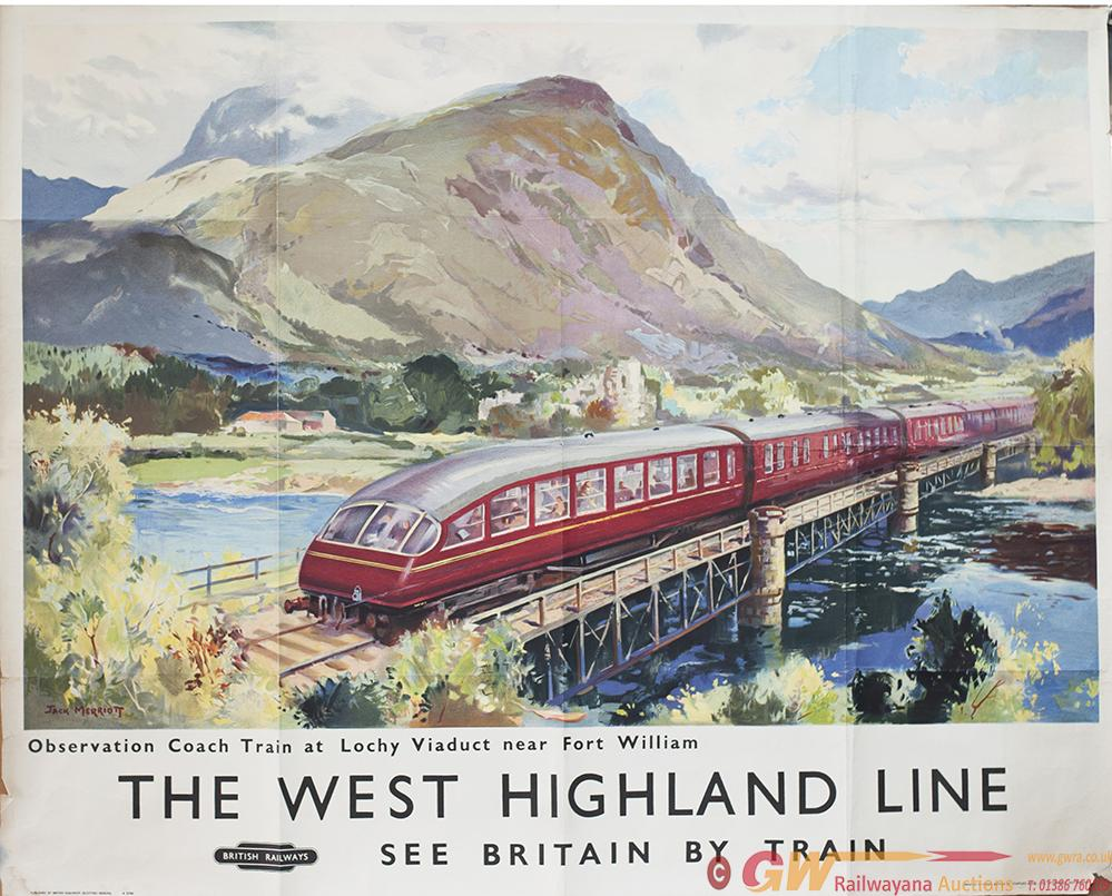 Poster BR(SC) THE WEST HIGHLAND LINE SEE BRITAIN