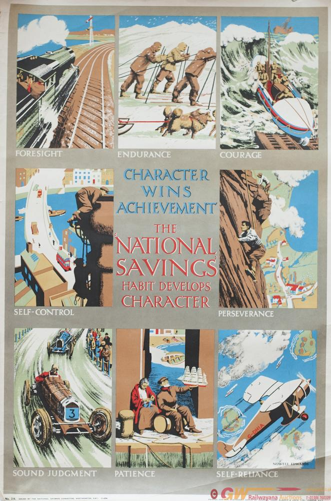 Poster ww2 THE NATIONAL SAVINGS HABIT DEVELOPS