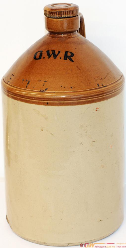 GWR Large Stoneware Flagon Complete With Stopper.