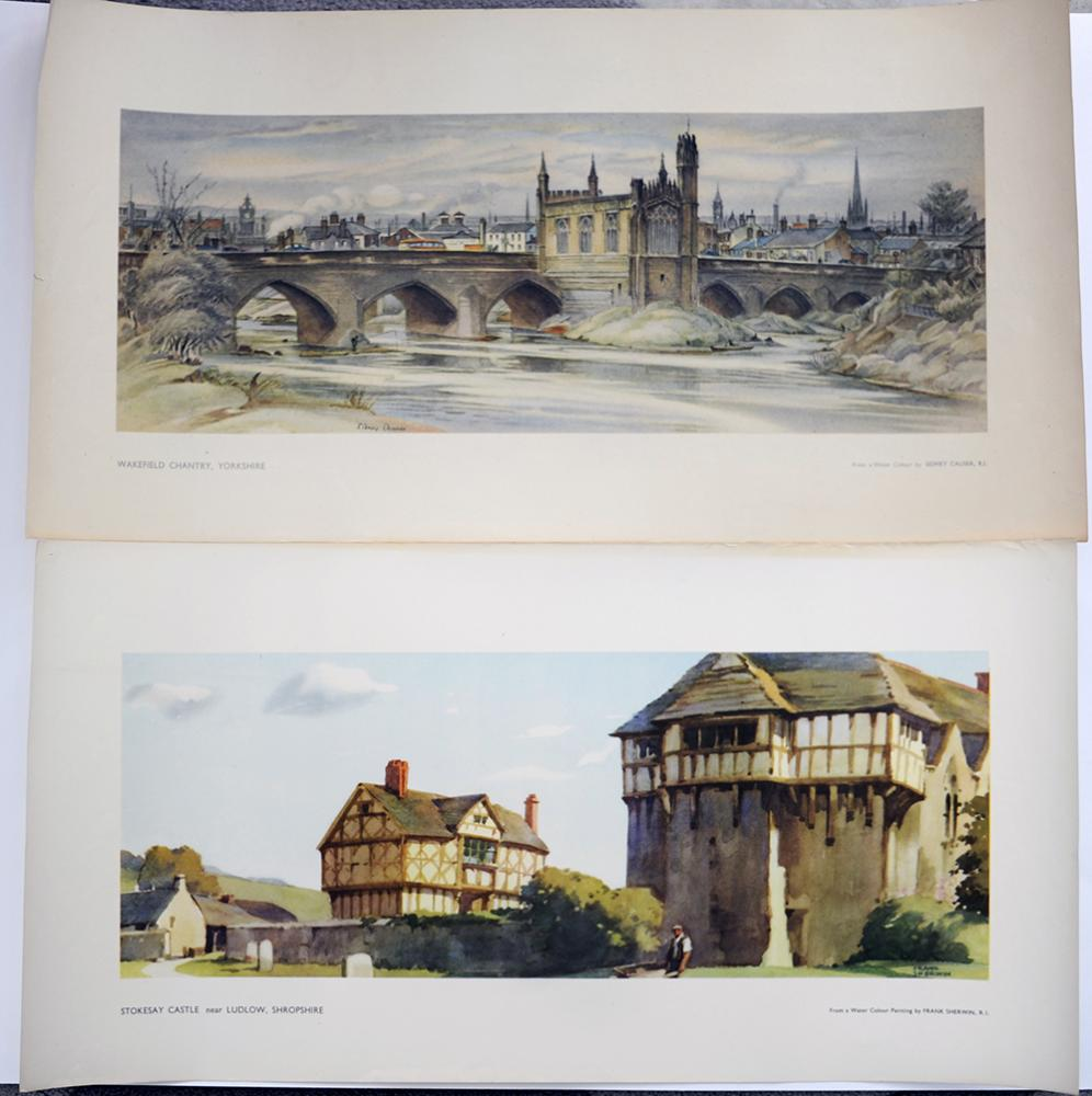 LNER And BR(W)  Carriage Prints x2. Stokesay