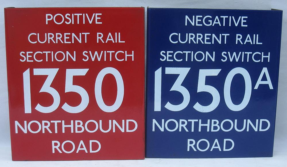 2 London Transport Enamel Switch Isolation Signs
