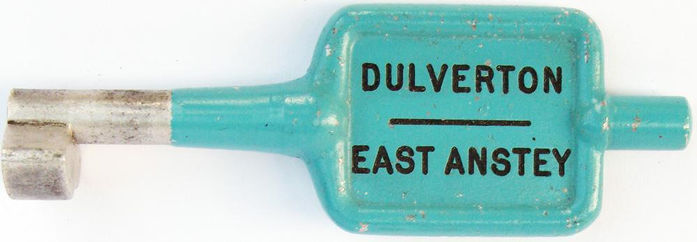 Alloy Key Token DULVERTON - EAST ANSTEY,  B