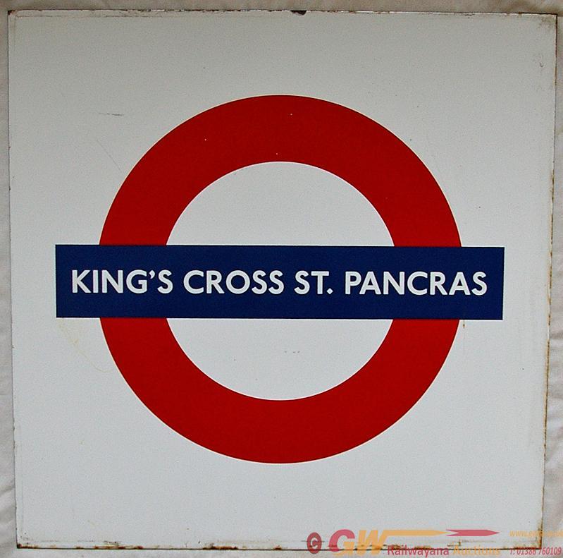 LT Station Target Roundel KING'S CROSS ST.