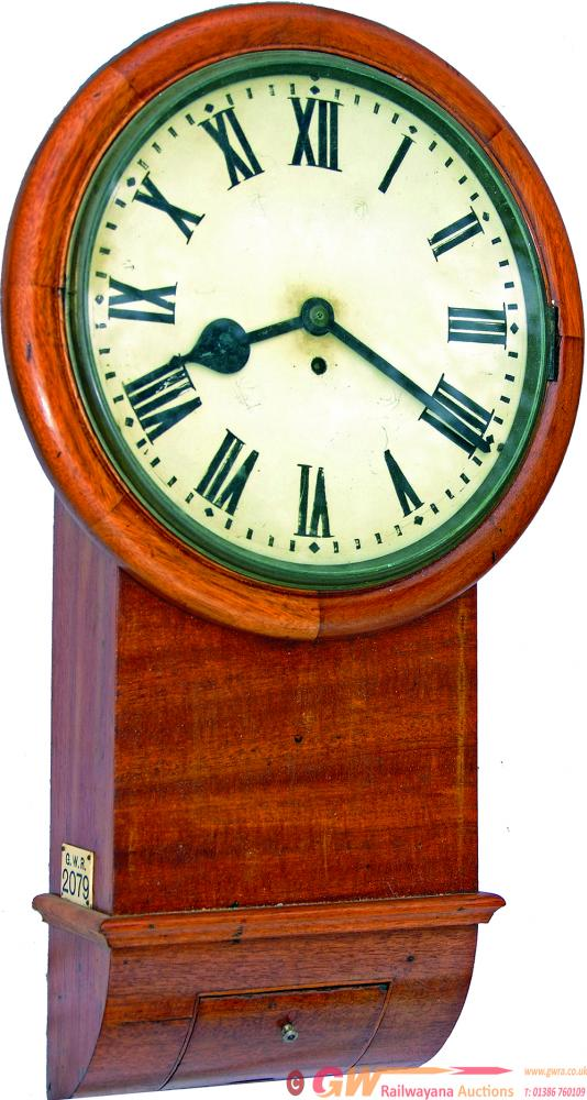 GWR 12, Mahogany Cased, Drop Dial Trunk Fusee