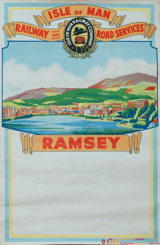 Poster ISLE OF MAN RAILWAY AND ROAD SERVICES