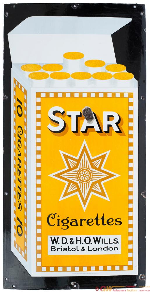 Advertising Enamel, Semi Pictorial STAR