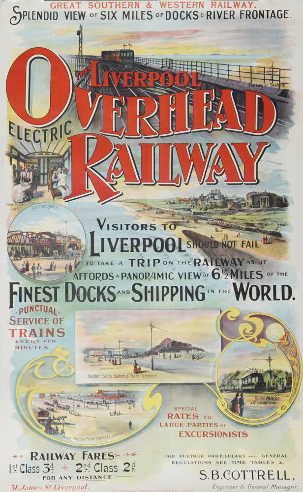 Poster Great Southern & Western Railway 'Liverpool