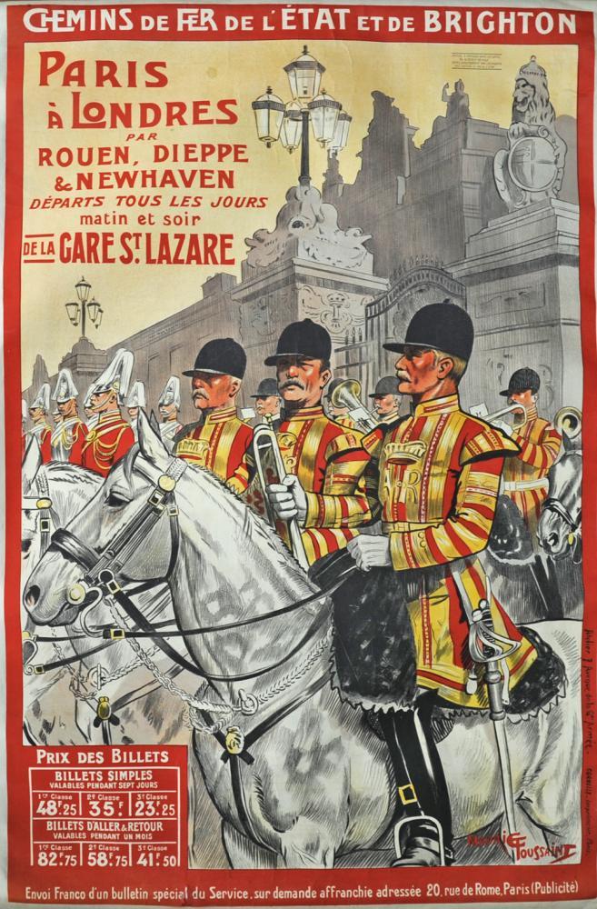Poster Chemins De Fer De L'Etat Et De Brighton