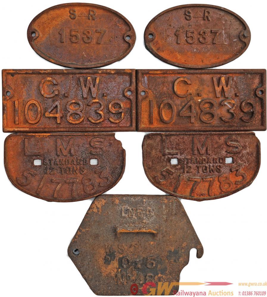 Wagon Plates Qty 6 Comprising: Qty 2 Southern