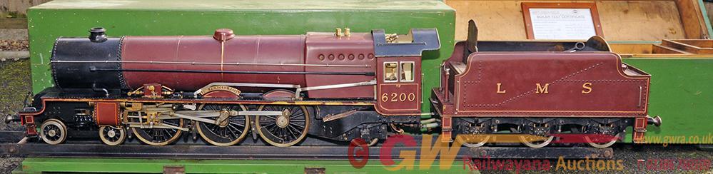 Live Steam 3.5in Gauge Locomotive 6200 THE