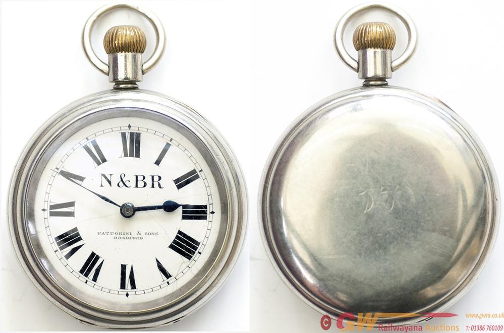 Neath And Brecon Railway Nickel Cased Pocket Watch