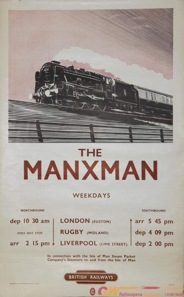 Poster British Railways 'The Manxman' By