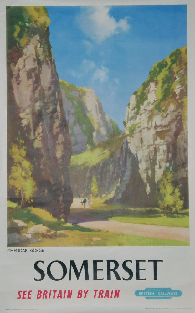 Poster, British Railways 'Somerset - Cheddar Gorge