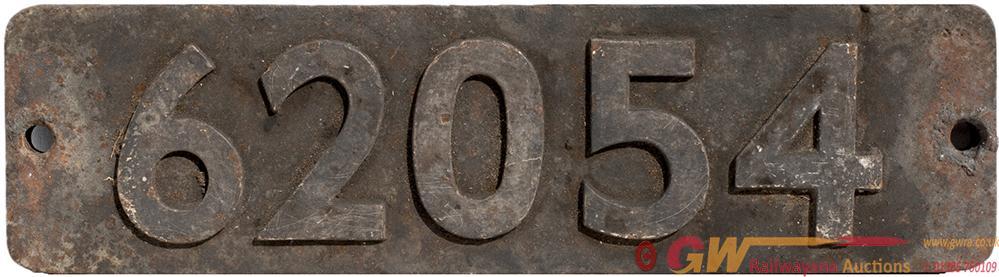 Smokebox Numberplate 62054 Ex Peppercorn k1 2-6-0