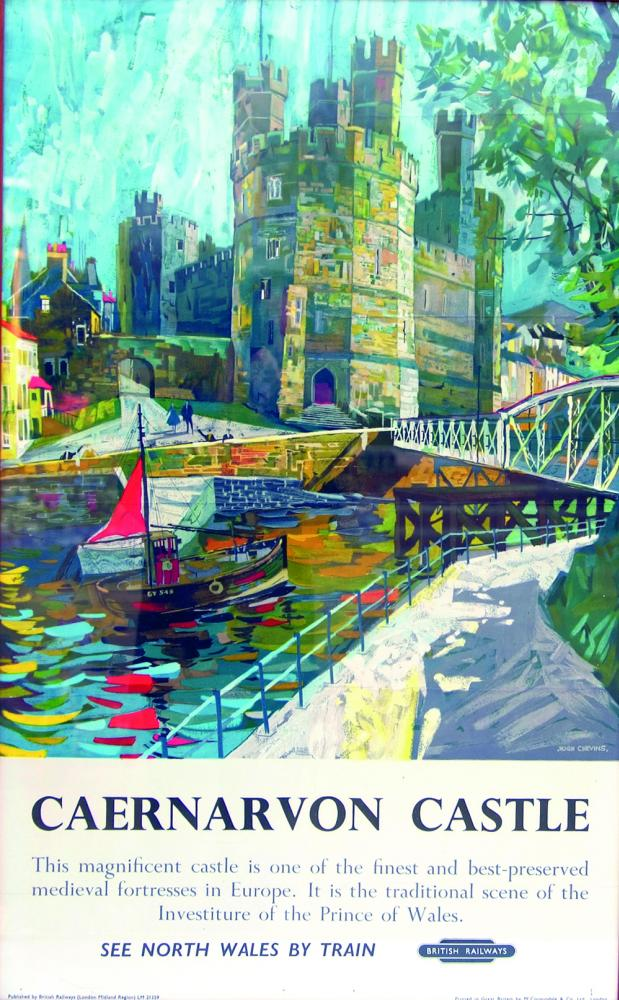 Poster 'Caernarvon Castle - See North Wales By
