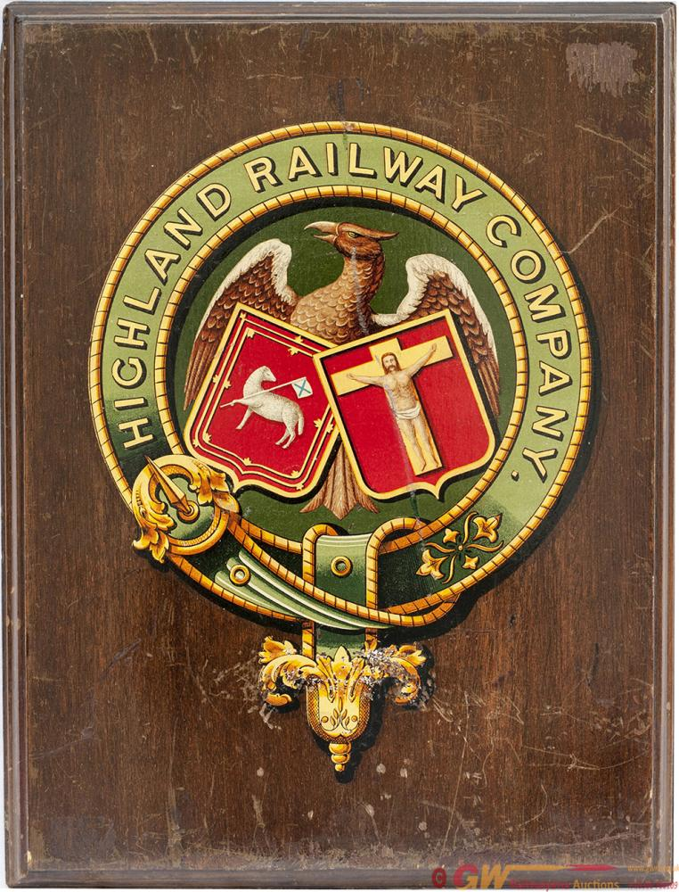 Highland Railway Coat Of Arms Nicely Mounted On A
