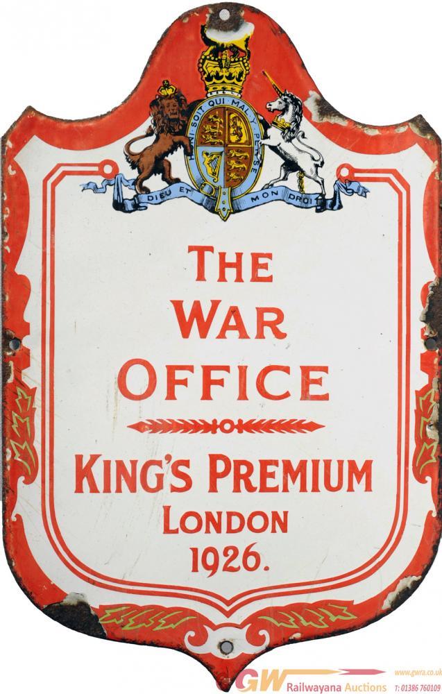 Advertising Enamel Sign 'The War Office - Kings