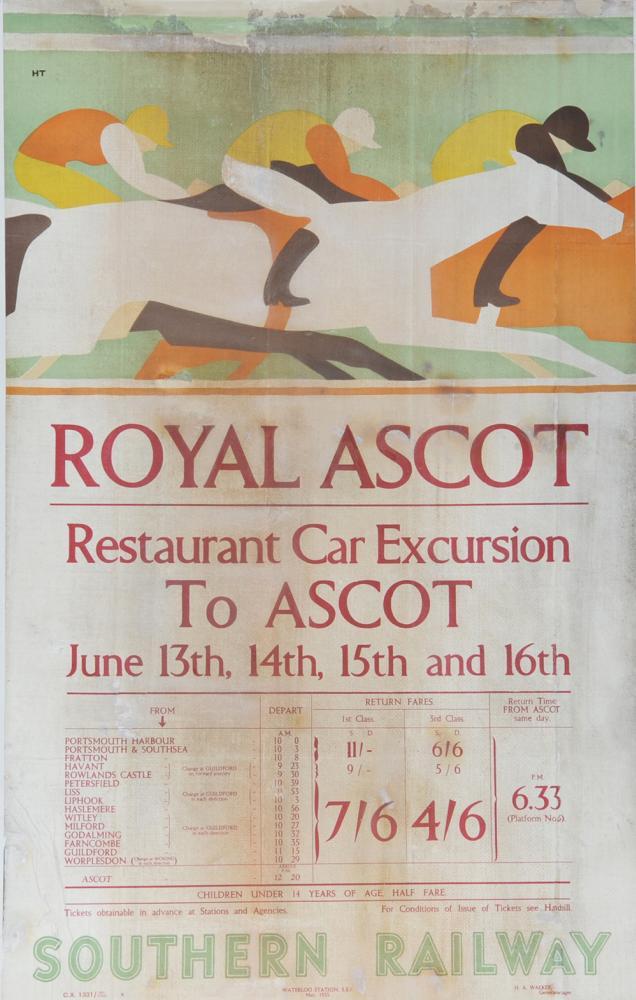 Poster Southern Railway 'Royal Ascot Race Meeting